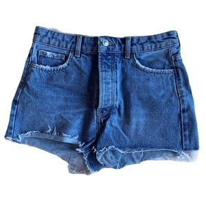 Bershka vintage look high rise shorts